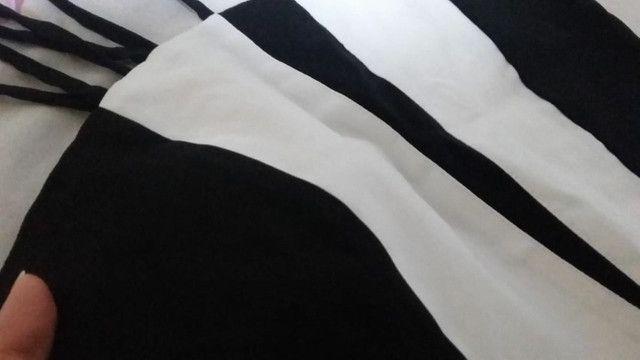 Vestido curto preto e branco novo - Foto 3