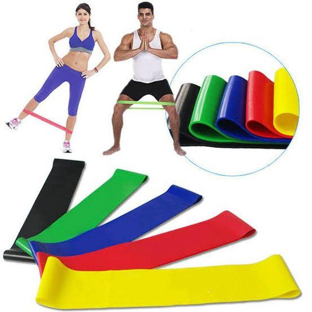 Kit 5 faixas elásticas mini Band exercício funcional yoga Pilates treino fitness
