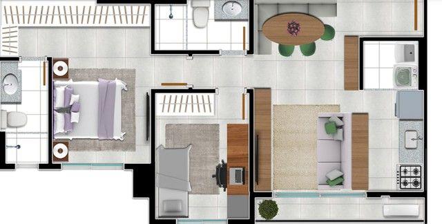 Apartamento com 2 quartos no RESIDENCIAL ALAMEDA LESTE - Bairro Setor Negrão de Lima em G