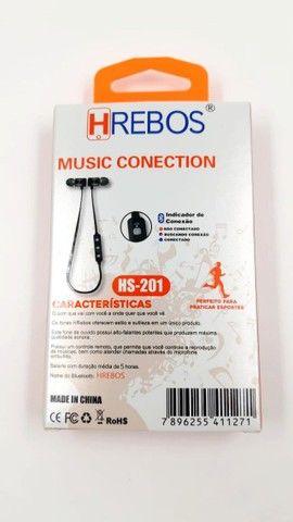 Fone De Ouvido Bluetooth Hrebos Hs-201 - Foto 2