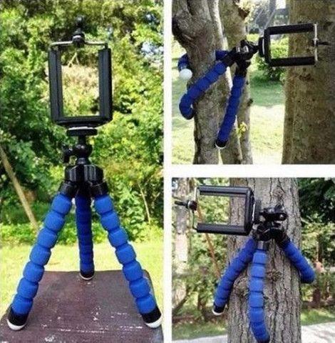 Tripé Flexível Portátil Pequeno para Suporte de Câmera / Celular - Foto 4