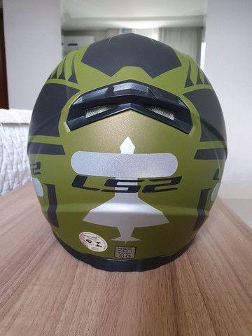 Capacete LS2 FF358 verde militar  - Foto 2