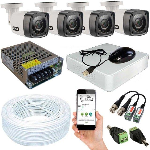 Kit 4 Câmeras Segurança DVR Hd 720p Citrox Infra 20m Externa