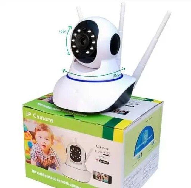 Câmera segurança robô visão noturna HD 360º  - Foto 2