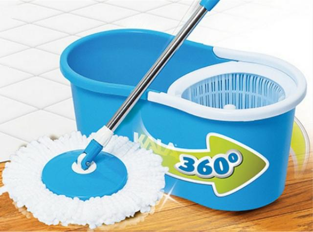 Spin Mop Com Balde Centrifugador 10L Azul - Kala - Foto 2