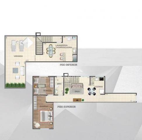 Cobertura duplex com 2 dormitórios à venda, 102 m² por r$ 440.000 - centro - são josé dos  - Foto 2