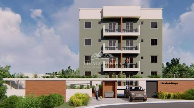 Apartamento garden com 15,45 m² para o seu pet, 2 quartos, churrasqueira e garagem coberta