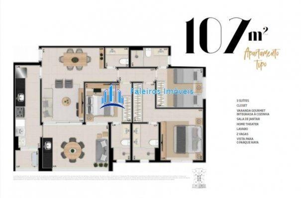 Lançamento Apartamentos 3 suítes - 2 vagas - lazer completo - Ile Verte - Foto 17