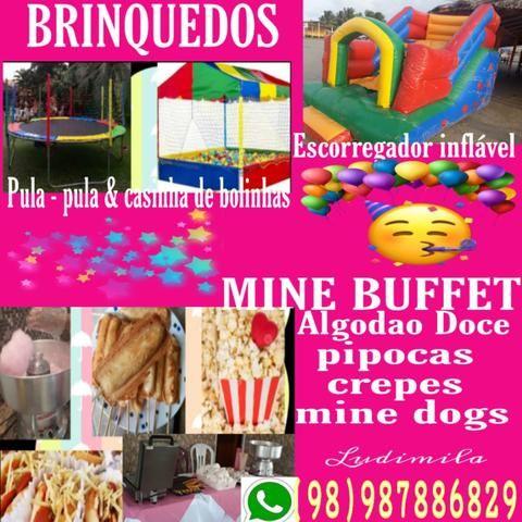Brinquedos e Mine buffet