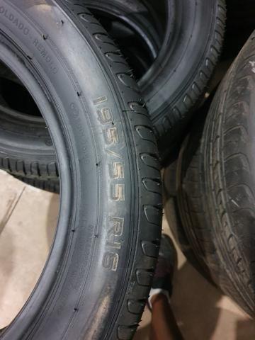 4 pneus 195/55/16 novo remold gp premium - Foto 3