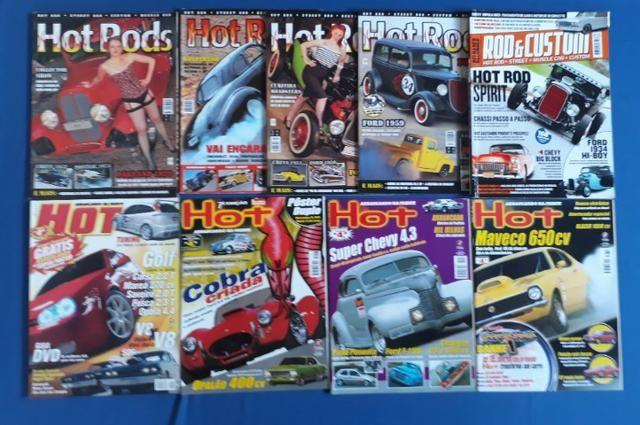 Revistas Rod&Custom/Hot Rods/Hot Arrancando na Frente (lote de 9)