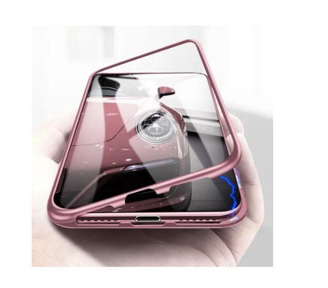 Capa Magnetica iphone xs max (9 plus) / vidro Frente Verso - Foto 5