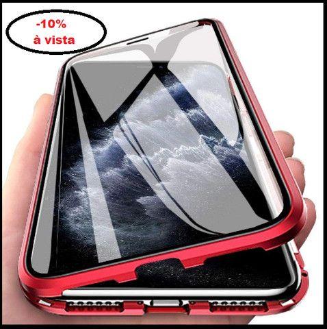 Capa Magnetica iphone xs max (9 plus) / vidro Frente Verso
