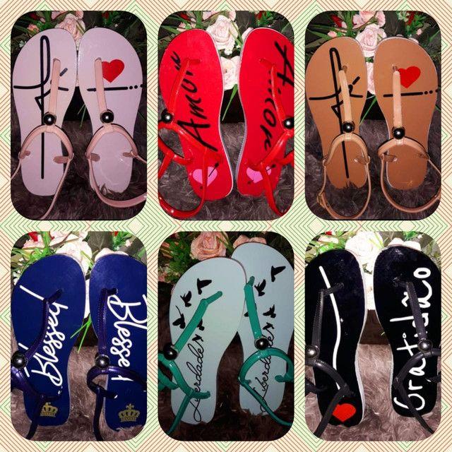 Chinelas e sandálias femininas - Foto 5