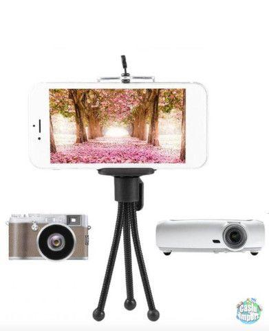 Mini tripé flexível de aço para câmeras e celular - Foto 2