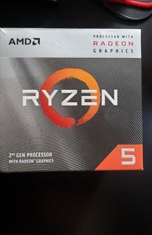 Processador AMD Ryzen 5 3400G 3.7GHz (4.2GHz Max Turbo), Cache 6MB, Socket AM4