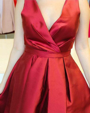 Vendo vestido de festa marsala tam g - Foto 2