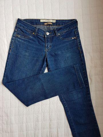 Linda Calça Jeans Feminina slim cintura baixa stretch ZARA- Tam 38 - Foto 2