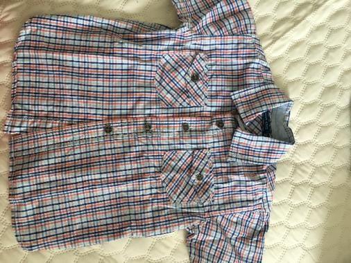 Camisa social manga curta + calça jeans Zara