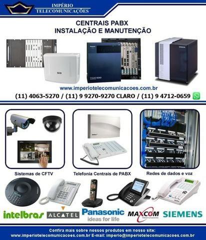 Manutenção instalação conserto de pabx Panasonic Intelbrás Maxcom tecnico de pabx em sp