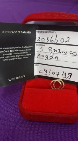 Brinco Argola Ouro 18 K - Foto 3