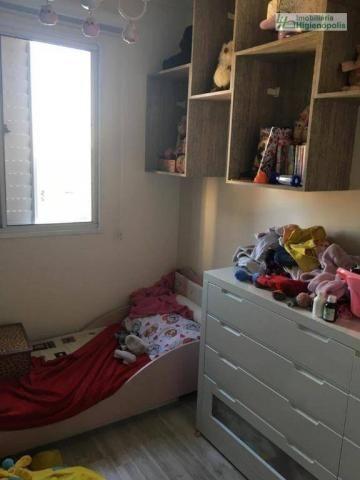 Apartamento com 3 dormitórios à venda, 60 m² por r$ 330.000 - parque bandeirante - santo a - Foto 6