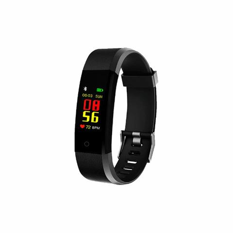 Pulseira Inteligente Fitness Prova Dágua Smartband Preto