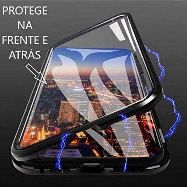 Capa Magnetica iphone xs max (9 plus) / vidro Frente Verso - Foto 3