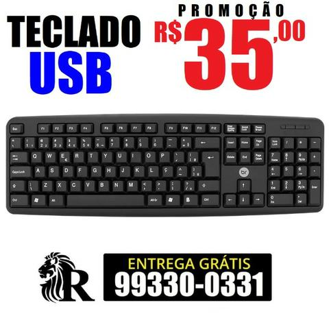 Teclado USB para PC (entrega grátis)