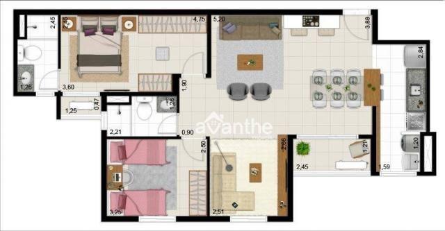 Apartamento com 3 dormitórios à venda, 74 m² por R$ 317.000 - Santa Isabel Zona Leste - Te - Foto 13