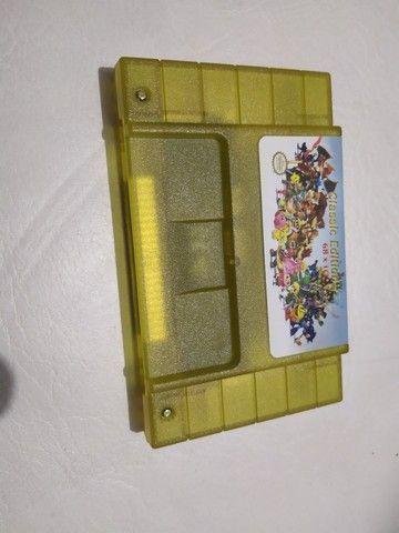 Fita cartucho nova pra console vídeo game super Nintendo 68 jogos