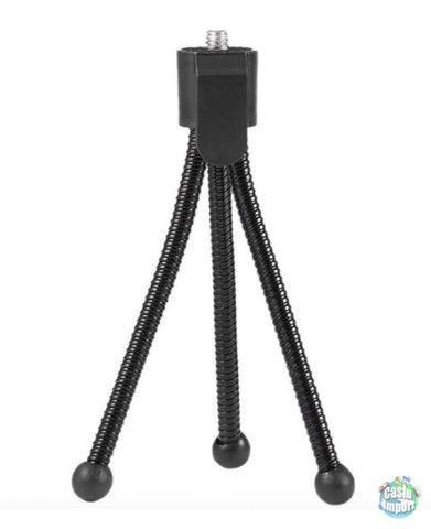 Mini tripé flexível de aço para câmeras e celular - Foto 3