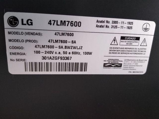 "TV LG 3D 47"" Full HD + Home Theater 5.1 Sony - Foto 6"