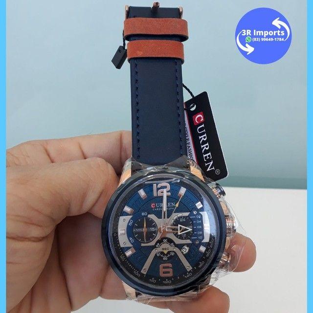 Relógio masculino esportivo de couro - Curren