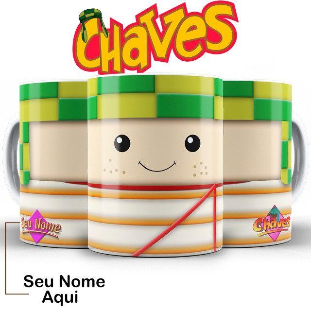 Chaves Turma do Chaves SBT Caneca Tematica Com Nome Escolha Seu Personagem - Foto 5