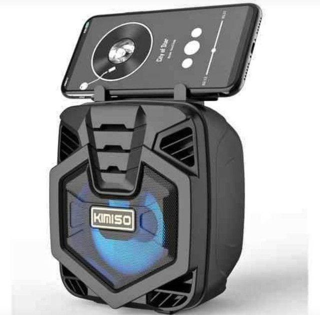 Caixa de som completa com bluetooth rádio entrada pra pendrave e recarregável