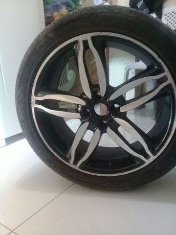 Roda 17 pneus novos - Foto 2