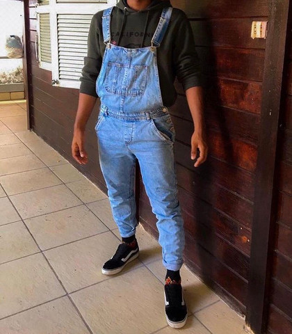 Macacão Masculino Jeans
