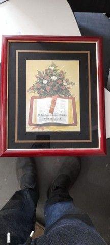 Quadro c/ Moldura em Madeira Preto 33 cm x 29 cm