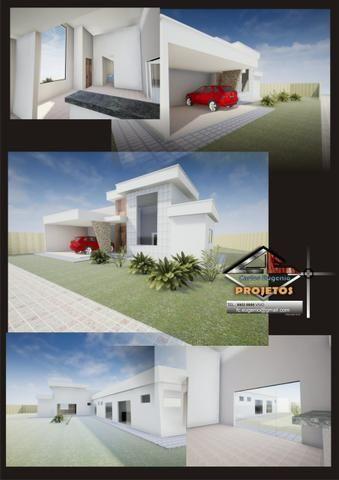 Maravilhosa casa 3 suítes, 2 garagens cobertas, condomínio estância Quintas da alvorada - Foto 3