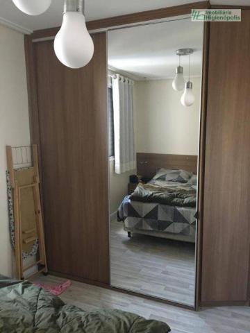 Apartamento com 3 dormitórios à venda, 60 m² por r$ 330.000 - parque bandeirante - santo a - Foto 10