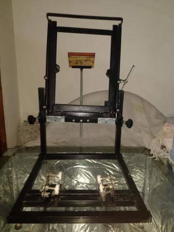 Máquina De Silk Cilíndrica e Mesa de Revelação - Foto 2