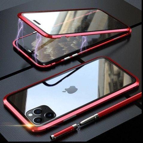 Capa Magnetica iphone xs max (9 plus) / vidro Frente Verso - Foto 6