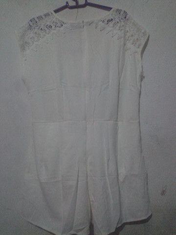 Macacão curto branco - Foto 3