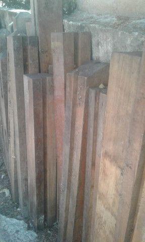 Colunas de madeira de lei, de demolição - Foto 3