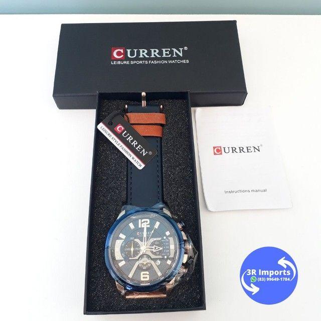 Relógio masculino esportivo de couro - Curren  - Foto 2