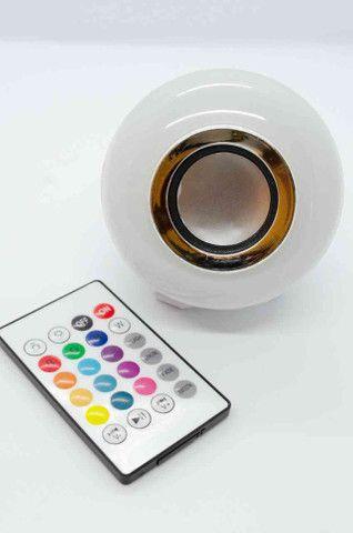 Lâmpada Led com caixa de som Music Bulb - Foto 2