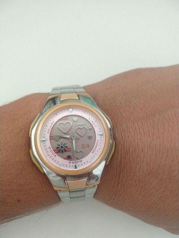 Relógio Casio Feminino Lcf-10 D-4a 5 Alarmes Crono Wr50 Rosa - Foto 3