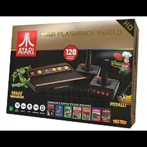 Console Atari Flashback 9 Gold HDMI (controle sem fio) Tec Toy com 120 Jogos (raro) - Foto 3