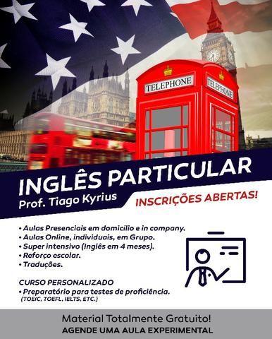 Professor particular de inglês online e presencial